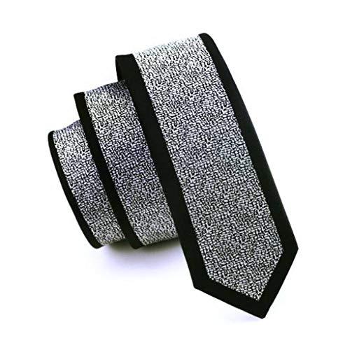 WOXHY Corbata de los Hombres 2017 Moda Corbata Delgada geometría Gris Flaco Estrecho gravata Seda Corbatas Tejidas Jacquard para Hombres Banquete de Boda Novio hh-102
