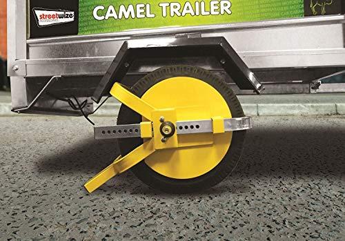 Tooltime - Ganascia per ruota, 8'-10', elevata sicurezza, per caravan
