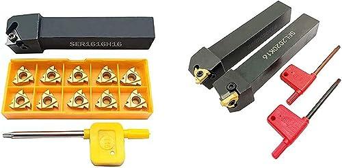 discount ASZLBYM CNC Lathe Carbide Indexable Threading Turning Tool Holder SER1616H16 SER2020K16 SEL2020K16 with Indexable Threading new arrival Turning online Insert 16ER / IR AG60 BP010 outlet online sale