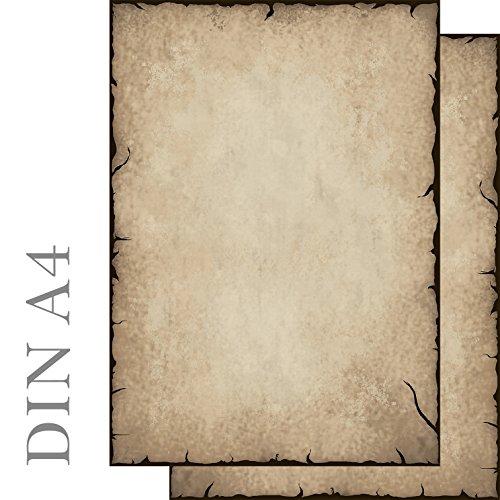 Briefpapier 20 Blatt Motivpapier Antik altes Papier Vintage beidseitig bedruckt DIN A4 90 g/m² 51201