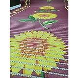 TOMASELLI MERCERIA Alfombra antideslizante Aquamat de PVC de 20 cm de altura - Flor