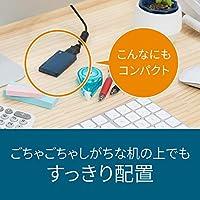 バッファロー SSD 外付け 480GB 超小型 コンパクト ポータブル PS5/PS4対応(メーカー動作確認済) USB3.2Gen1 モスブルー SSD-PSM480U3-B/N