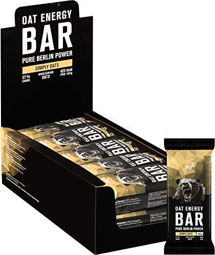 nu3 Oat Energy Bar - 15x 100 g Hafer Bar - Köstlicher Flap Jack Energie Riegel mit 60{89c87b7dba57b03e11107485afbe93aa0743b6aba5121a6c4430ec291b66f648} Kohlenhydraten für Ausdauer- und Kraftsport - Müsli Bar für Unterwegs - Veganer Oatsnack mit leichter Süße