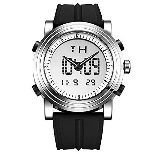 Herren-Armbanduhr aus Gummi von SINOBI, Sport, Militär, Digital, Quarz, Leuchtend, Zeit/Datum