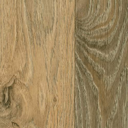 TAPETENSPEZI PVC Bodenbelag Eiche Beige | Vinylboden als Muster | Fußbodenheizung geeignet | Vinyl Planken strapazierfähig & pflegeleicht | Fußbodenbelag für Gewerbe und Wohnbereich