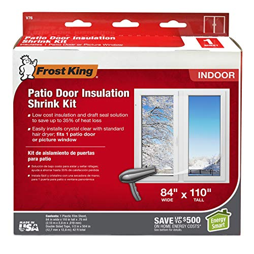 home insulations Frost King V76H Shrink Window Kit 84-Inch by 110-Inch, Clear
