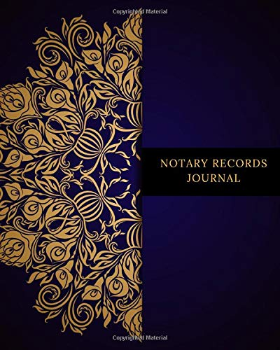 Notary Records Journal: Official Notary Journal  Public Notary Records Book Notarial acts records events Log Notary Template  Notary Receipt Book - Paperback