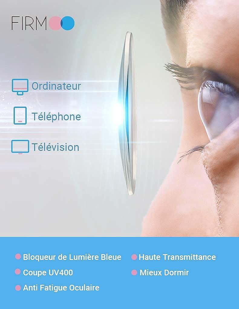 Lunettes de Repos Anti Lumi/ère Bleue Femme Firmoo Lunettes Anti Lumi/ère Bleue Lunettes Oeil de Chat pour Ordinateur Anti Fatigue Oculaire Filtre 100/% UV