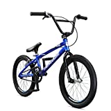 Mongoose Title Micro BMX Race Bike, 20-Inch Wheels, Beginner to Intermediate Riders, Lightweight Aluminum Frame, Internal Cable Routing, Red