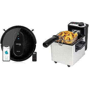 Cecotec Robot Aspirador Conga Serie 1590 Active + Freidora Eléctrica CleanFry: Amazon.es: Hogar
