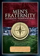 HCSB Men's Fraternity Authentic Manhood Bible, British Tan Imitation Leather