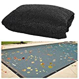 Biggun 16.4 x 32.8ft Rectangle Fine Mesh Swimming Pool Leaf Net Cover- Durable In-Ground Pool Leaf Cover with Grommets (One Every 40') for Swimming Pool, Fencing, Sunshade