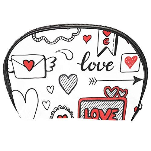 TIZORAX Sac à cosmétiques avec motif de cœur