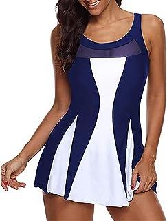Women's One-Piece Swimsuit Swim Skirt Skirt Ruffle Retro Swimsuit Bathing Skirt Bottom Slip Padding Bikini Tankini Mesh Be...