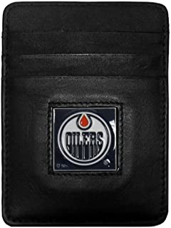 Siskiyou NHL Genuine Leather Money Clip/Cardholder Wallet