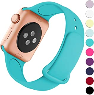 Haveda Bands Compatible with Apple Watch Band 38mm 40mm, Soft Silicone Sport Strap Wristband for Women Men with iWatch Series 4, Series 3, Series 2, Series 1, Teal, 38/40M/L