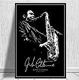 Plakat und Drucke Gemälde John Coltrane Jazz Musiker Musik