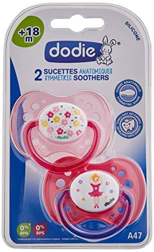 Dodie A47 - Chupete dúo, diseño niña princesa/bailarina
