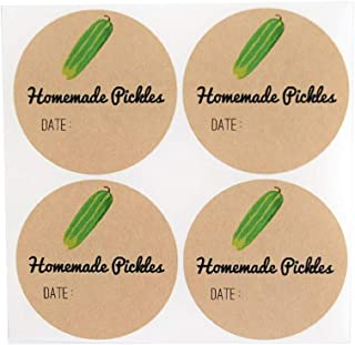 Mason Jar Labels for Homemade Pickles by Once Upon Supplies, Pickling Stickers, Canning Supplies, Cucumber Design, 2.5 Inc...