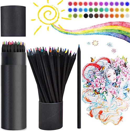 GWZZ Lápices de Colores, lápices 36 Piezas Profesional Dibujo de lápices Coloreado,...