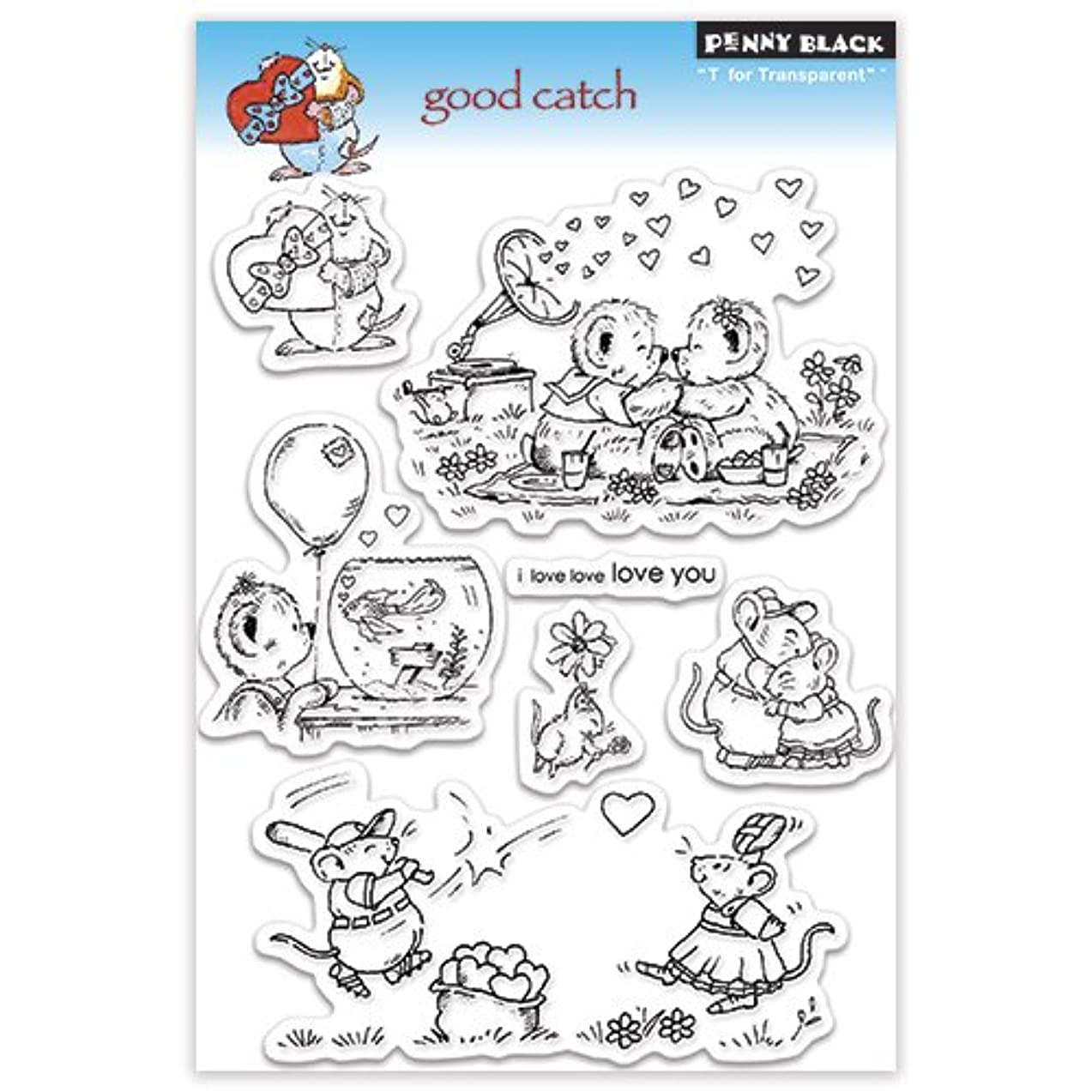 Penny Black Clear Stamp Set, Good Catch