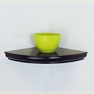 Home Decorators Collection 12 in. L x 12 in. W x 0.63 in. H Profile Espresso Corner Shelf