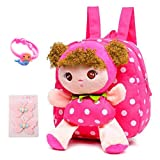 Suerico Cute Toddler Backpack Plush Doll Toy Snack Travel Bag Preschool Shoulder Bag Gift for Kid