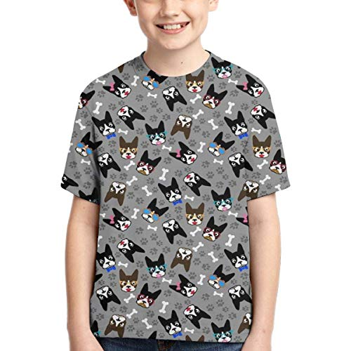 XCNGG Niños Tops Camisetas Youth Short Sleeve T-Shirts Jungle Leaves Parrots Kids Casual Graphics Tees