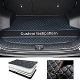Tuqiang Alfombrilla de maletero de coche personalizada para Mazda 2, 3, 5, 6, CX-3, CX-5, CX-7, CX-9, MX-5, BT50, RX8, Tribute, antideslizante, de cuero, para carga, para mascotas, color negro y azul