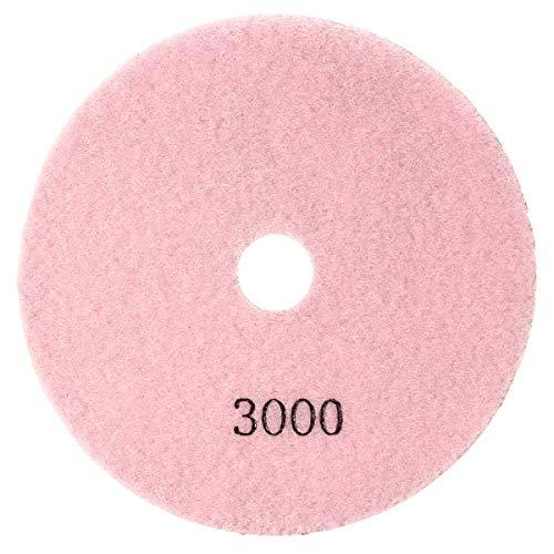 NICOLIE Disco de lijado en seco húmedo de grano 50-6000 de 5 pulgadas, compatible con vidrio de granito de hormigón de mármol, 3000 #