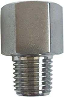 """Metalwork 304 Stainless Steel Pipe Fitting,Converter Adapter, G 1/4"""" Female Thread to 1/4"""