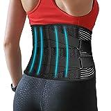 Corrector de Postura Ortopédico para Hombre y Mujer - Faja Lumbar Trabajo - Cinturón de Soporte de Espalda/Columna - Espalda Recta y Postura Ideal - Transpirable, Ajustable, Profesional   Negro (L)