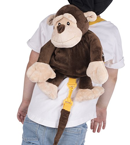 Animal Planet Baby Backpack with Safety Harness, Monkey