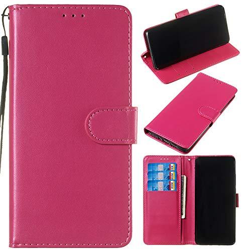 Capa carteira de couro PU premium de cor sólida clássica flip da XYX para Sony Xperia XZ1 (Rosa)