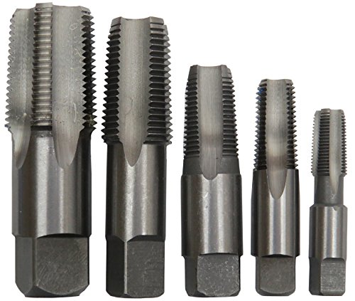 Drill America - POUCSNPT5 5 Piece NPT Pipe Tap Set (1/8