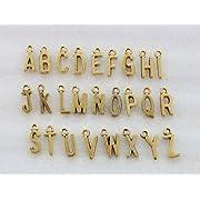 78PCS Assorted of Antiqued Colour alphabet letter charms (antiqued gold)