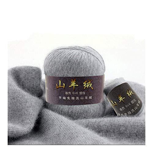 MYBHD 50 + 20 G/set Heren gebreide wollen trui met fijne Mongoolse kasjmier garen hand gemaakte Muts Sjaal Met Zachte Wol Yarn (Color : 112)