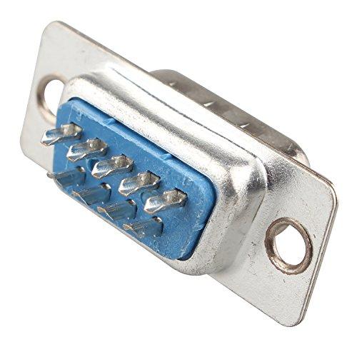 Futheda D-Sub-Stecker-Adapter, 9-polig, männlich, mit Lötkontakten, 10 Stück