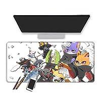 マウスパッド ナルトアニメ拡張マウスパッド多機能ノートパソコンパッド大ゲーミングマウスパッドオフィスホームコンピュータキーボードパッド洗える-60X30Cm