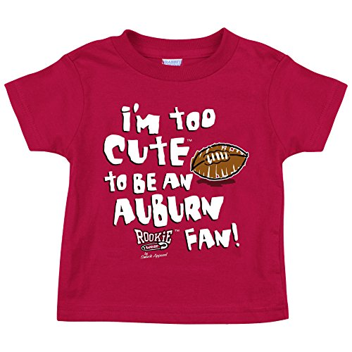 Alabama Football Fans. Too Cute Crimson Toddler Tee (2T-4T) (3T)