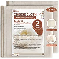 2-Pack eFond 24x24Inch Reusable Hemmed Cheese Cloth for Straining