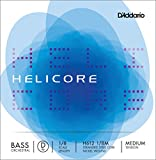 D'Addario Helicore Orchestral Bass Single D String, 1/8 Scale, Medium Tension