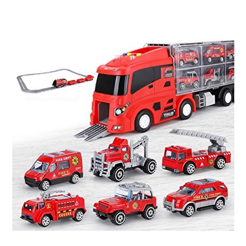 Grand Toy Car Set, 8 ingénierie Set Voiture avec Piste et en Alliage Voiture, Cadeau for Les Enfants de Plus de 3 Ans (Color : Green)