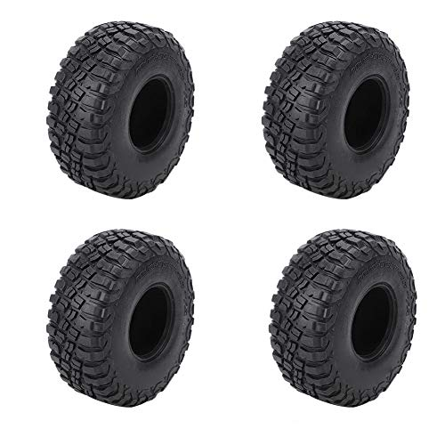 4Pcs RC Tire Skin, 1/10 2.2Inch Tire Tire Wheels 45mm Racing Tires Skins RC Car Accesorio Piezas con Esponja para 1/10 RC Crawler Car