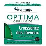 Vitarmonyl - Optima Croissance des cheveux – pousse des cheveux – biotine ortie prêle vitamines levure de bière – 60 capsules – fabriqué en France