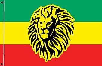 DURABOL Bandera de Rastafari leon flag 90x150cm SATIN 2 anillas metálicas fijadas en el dobladillo