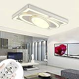 [page_title]-Deckenlampe LED Deckenleuchte 78W Wohnzimmer Lampe Modern Deckenleuchten Kueche Badezimmer Flur Schlafzimmer (Weiß, 78W-Dimmbar)
