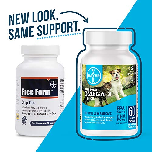 Free Form Snip Tips Omega-3 Fish Oil Liquid Supplement for Small Dogs and Cats, 60 Count, 87042251