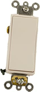 Leviton 5685-2W 15 Amp, 120/277 Volt, Decora Plus Rocker, Single-Pole Double Throw, Center Off, Maintained Contact, White