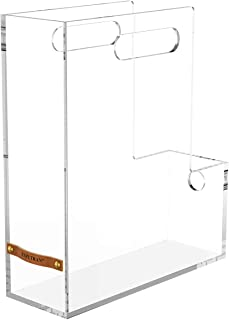 EXPUTRAN Acrylic Magazine Holder Magazine File Boxes Desk File Organizer for Home Office and Work Desktops, Clear
